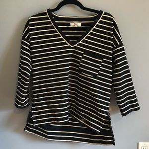 Madewell Black and White Striped Sweater